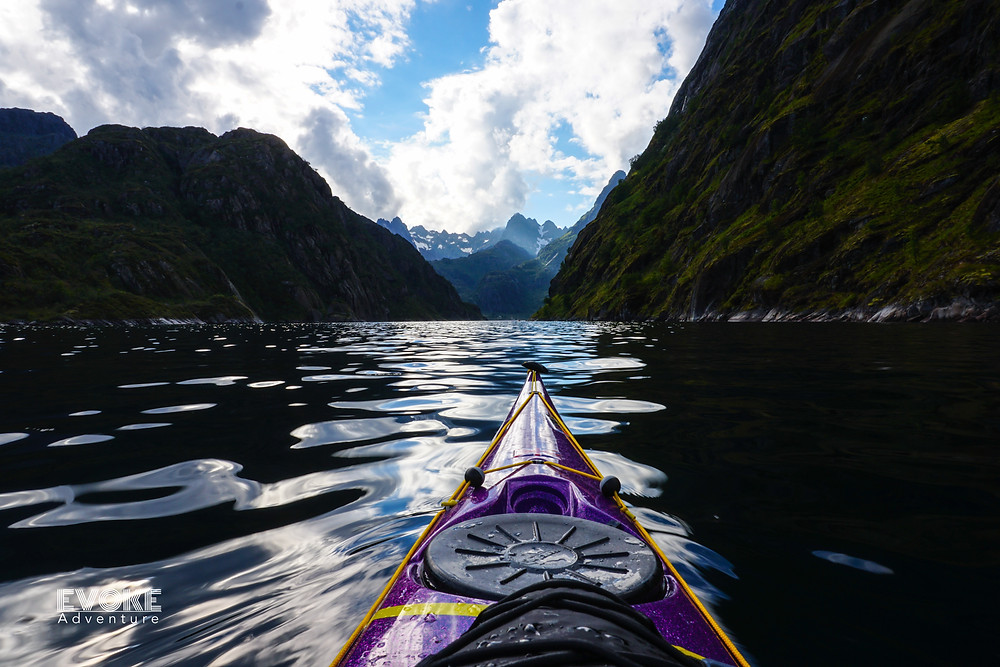 On a sea kayaking expedition with Evoke Adventure in Lofoten, Norway