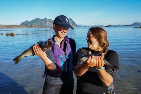 Lofoten Kayaking - Mmmm Fresh Fish For Dinner