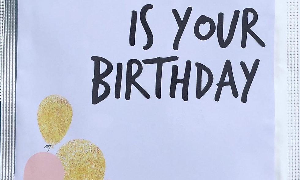"Teepostkarte ""Birthday"""