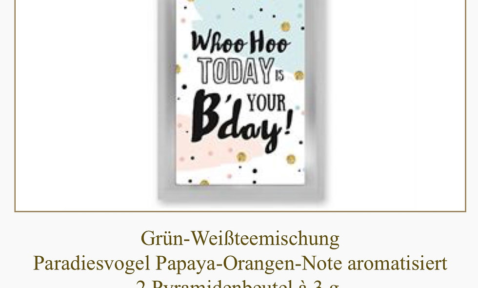 "Teepostkarte ""Birthday"""