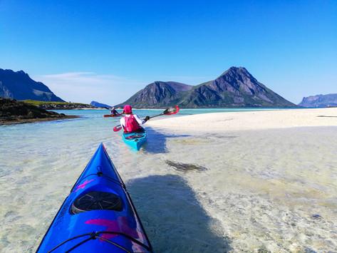 Lofoten - Kayaking Towards Gimsoya