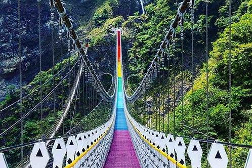 一日遊 雙龍瀑布七彩吊橋【台中出發】