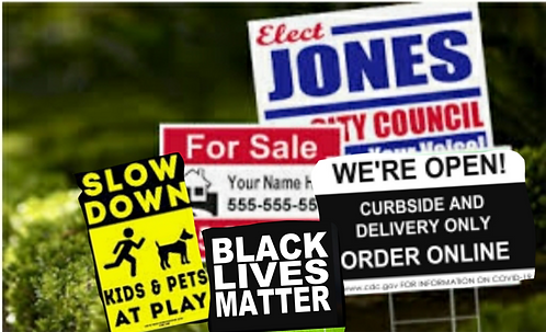 Consumer/Business Yard Signs
