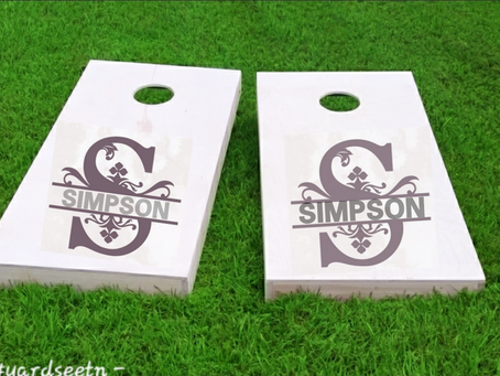 New Cornhole Boards