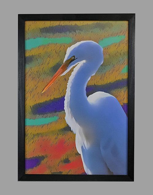 Embellished Egret 18x26