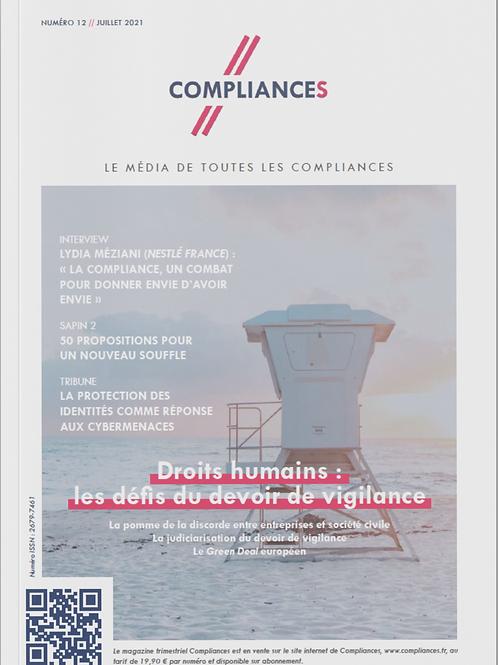 Compliances, le mag n°12 // juillet 2021