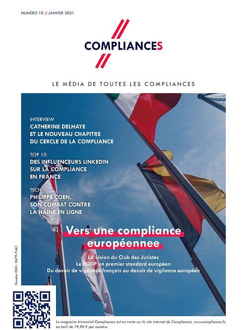 Compliances, le mag n°10 // janvier 2021