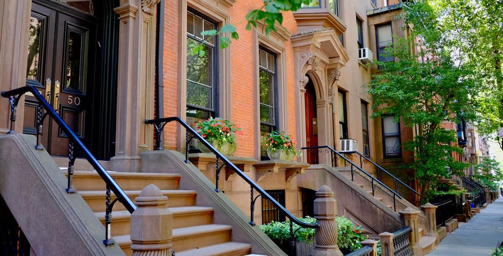 Brownstones in Brooklyn Heights