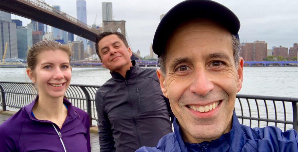Selfies in Brooklyn Bridge Park