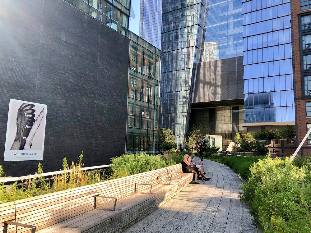 The north end of the High line by the Hudson Rail Yards