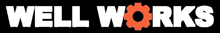 Well Works Logo with Orange Gear as O