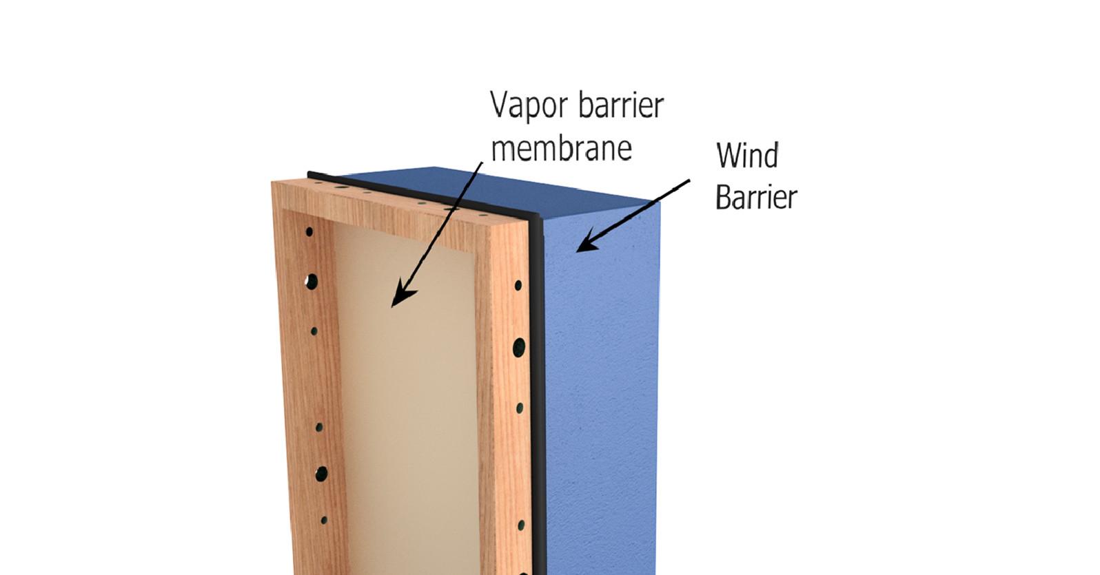 Vapor and wind barrier