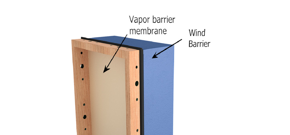 Vapor and wind barrier