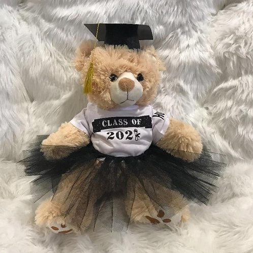 Graduation Bear Girl - We add your school colors!
