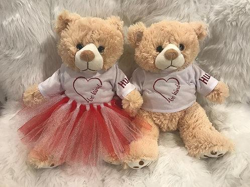 Be Kind - Valentine Bear Girl & Boy