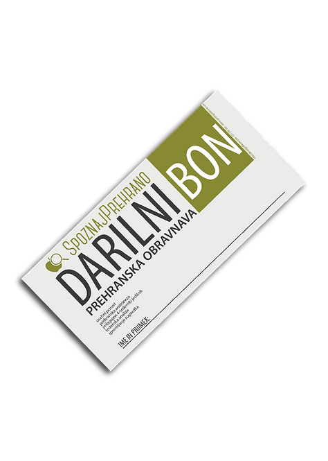 DARILNI BON - prehranski coaching