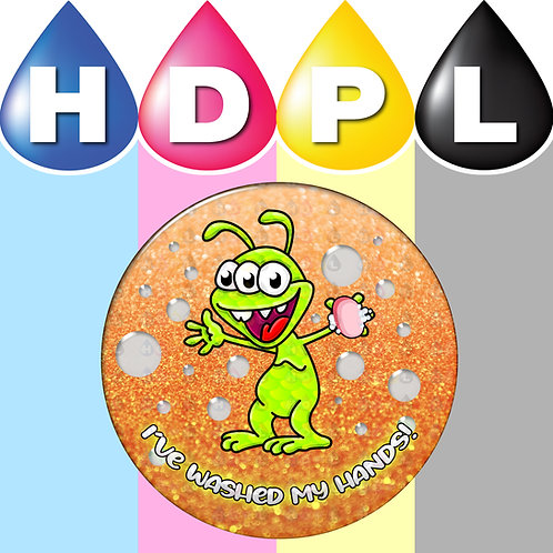 192 I've Washed My Hands Stickers (Alien D)