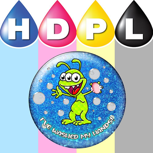 192 I've Washed My Hands Stickers (Alien A)