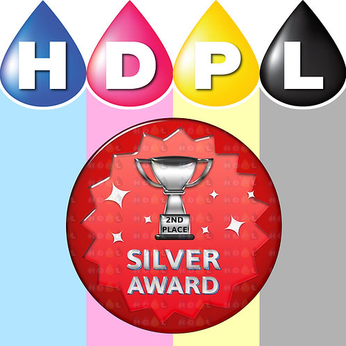 192 Silver Trophy 2nd Place Stickers