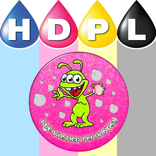 192 I've Washed My Hands Stickers (Alien C)