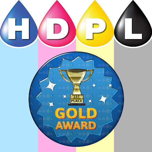 192 Gold Trophy 1st Place Stickers
