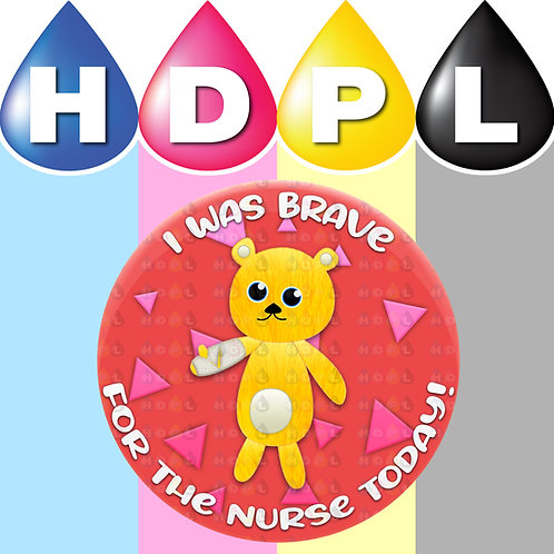 192 Brave For Nurse Stickers (D)