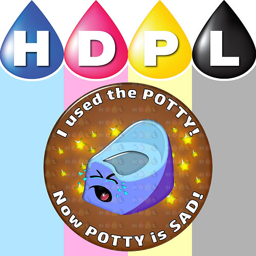 192 Potty Training Stickers (A)