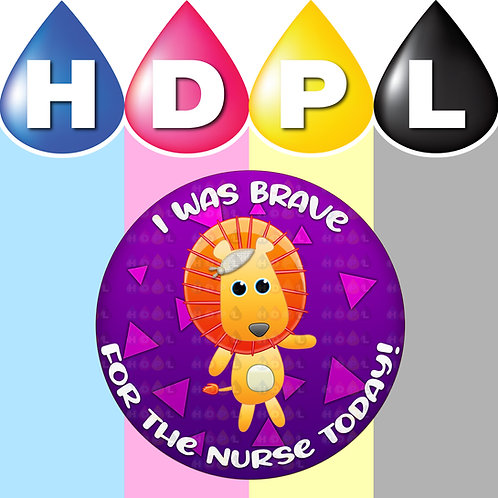 192 Brave For Nurse Stickers (A)