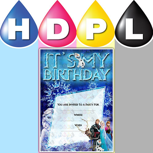 A6 Frozen Birthday Invitations