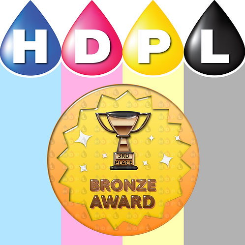 192 Bronze Trophy 3rd Place Stickers