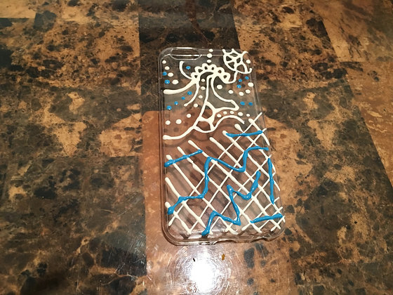 Baby Blue and White Case