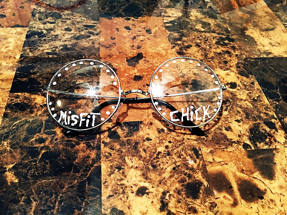 White Circle Frame Misfit Chick Sirens