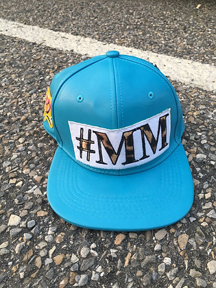 Baby Blue Leather #MM Snapback