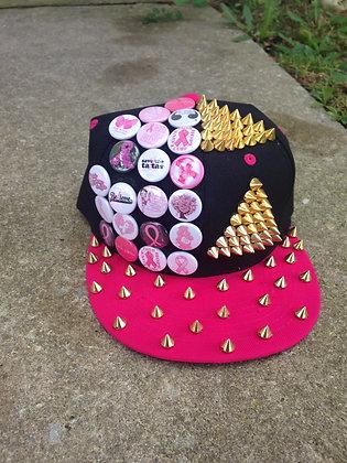 Black & Pink Breast Cancer Snapback