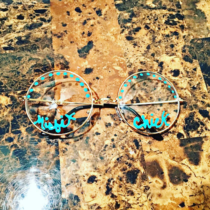 Baby Blue Circle Frame Misfit Chick Sirens