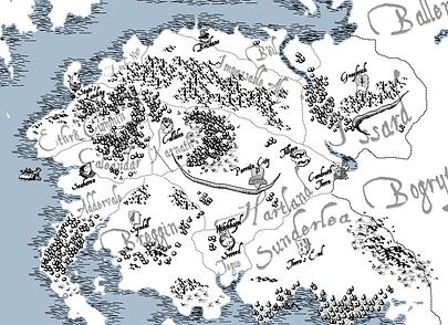 Map of Corwyn - Craggmoä