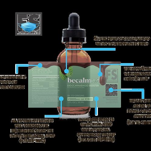 Chocolate Mint Becalmed 2000mg Endocannabinoid Booster Serum | 30ml