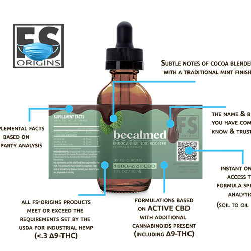 Chocolate Mint Becalmed 1000mg Endocannabinoid Booster Serum | 30ml