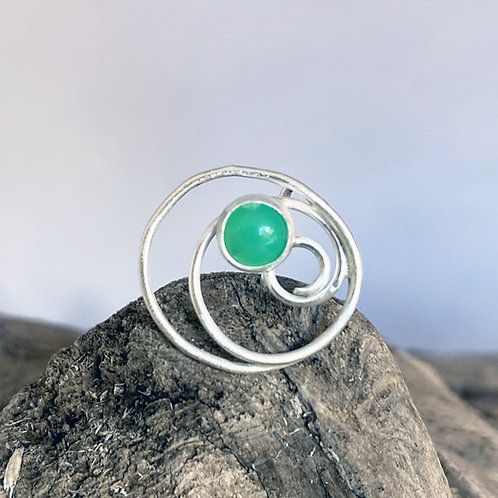 Compassion Chrysoprase Mask Pin