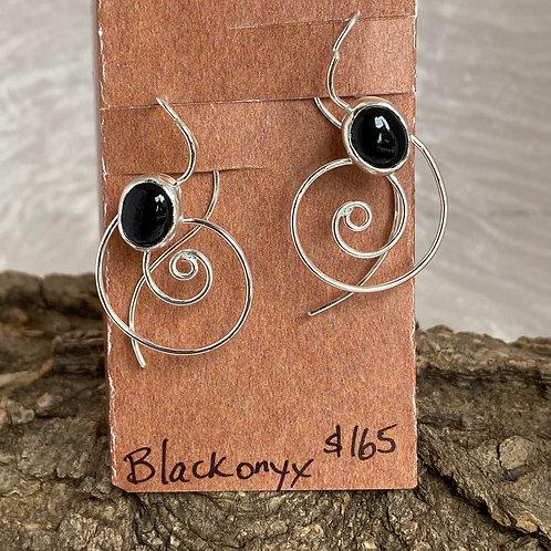 Black Onyx Top Current earrings