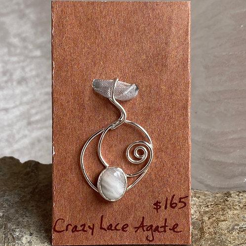 Crazy Lace Agate Breezy pendant