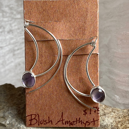 Blush Amethyst Crescent earrings