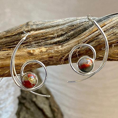 Faces of Agate earrings