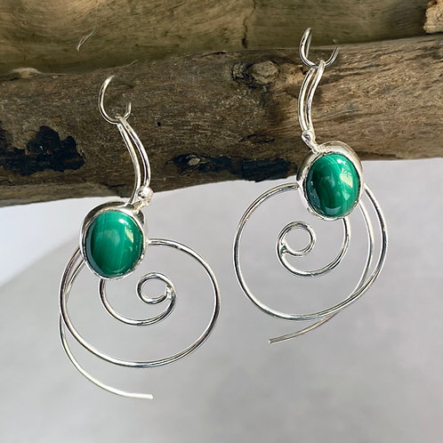 Malachite Top Current earrings