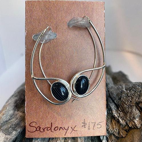 Banded Onyx Aurora Earrings