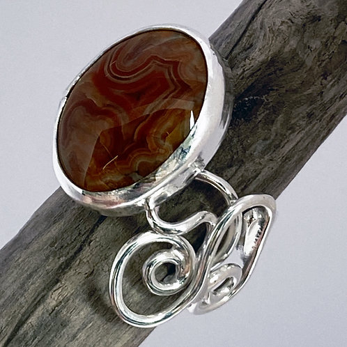 Crimson Leaf Ring