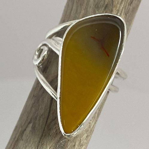 Saffron Charm Ring
