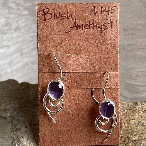 Blush Amethyst Vortex earrings