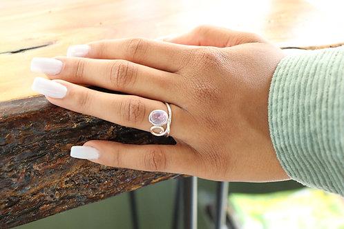 Blush Amethyst Curl ring