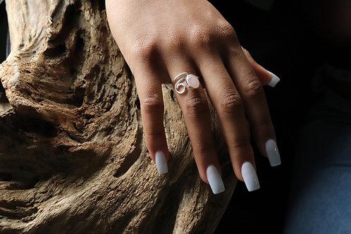 Rose Quartz Little Curl ring